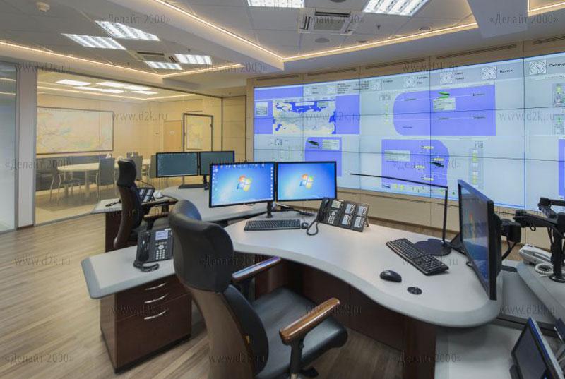 Диспетчерский пульт Evans Consoles в диспетчерском пункте Транснефть АК